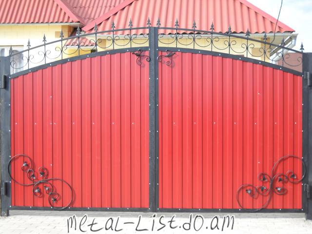 Ворота своими руками дизайн 424